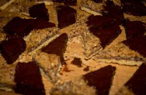 Nussecken mit Schokolade