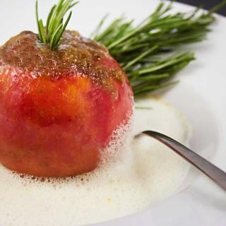 Himmlisches Aroma - Gewürzapfel in Schokosauce
