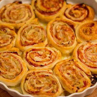Chicorée-Blätterteig-Rosen