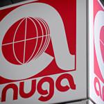 Ein Foto des rot-weißen Anuga-Logos