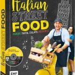 Coverabbildung von Italian Street Food. Zu sehen ist Pablo Macias auf einer gelben Vespa.