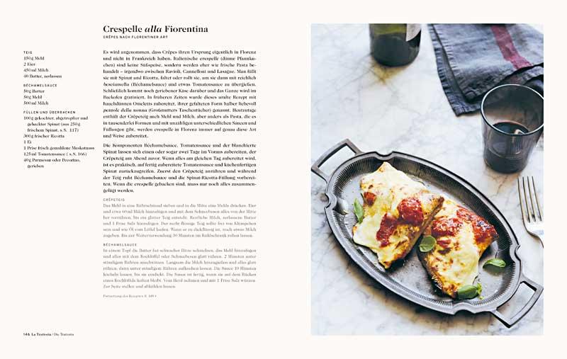 """Buchseite aus """"Florenz"""" mit einem Crespelle alla Fiorentina (Foto: Lauren Bamford)"""
