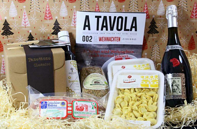 Der Inhalt der Zibibbo Weihnachtsbox.