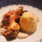 Marokkanisches Hähnchen mit Feigen und Mandelsauce an Couscous