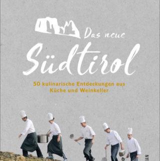 """Das Buchcover von """"Das neue Sürdtirol"""" zeigt fünf Köche, die einen Berg hinaufgehen."""