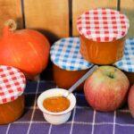 Selbst gemachte Apfel-Kürbis-Marmelade