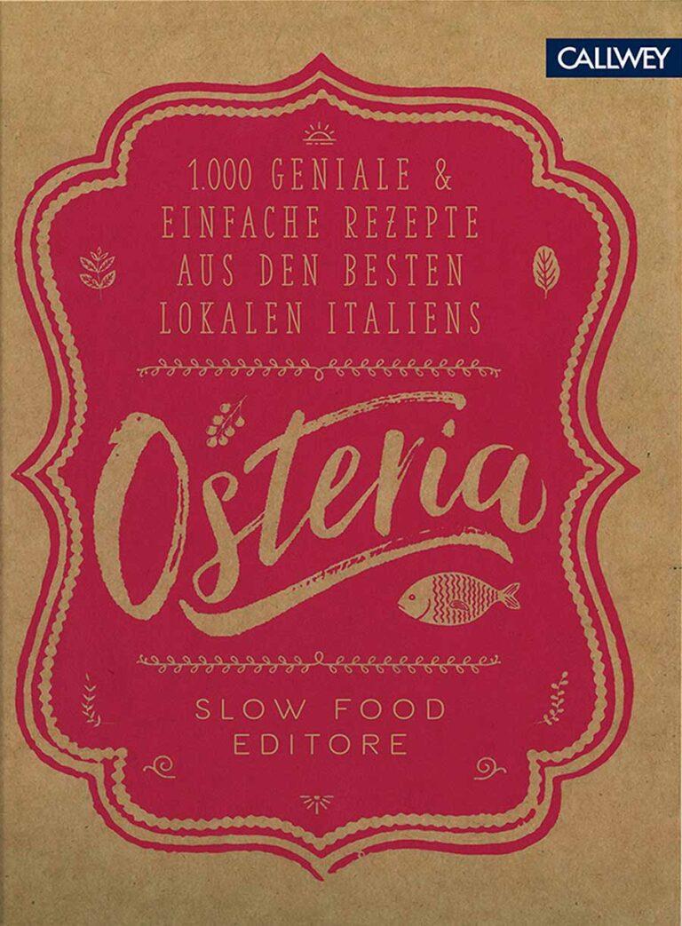 """Das Buchcover von """"Osteria"""", einem Kochbuch von Slow Food"""