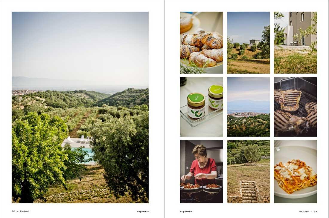 Buchseite aus SuperOlio mit Bildern von der Tenuta Librandi