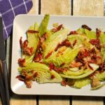 Geschmorter Wirsing mit Tomaten und Pancetta