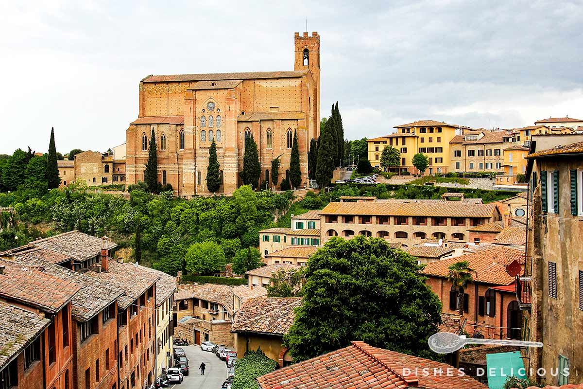 Die Basilica San Domenico in Siena.