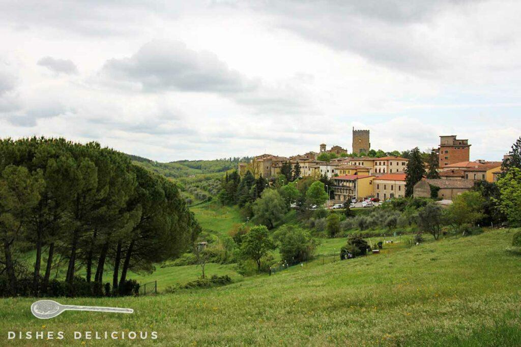 Panoramaansicht von Castellina in Chianti