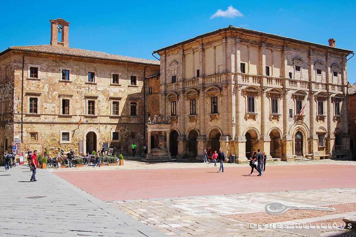 Foto vom Palazzo Nobili-Tarugi in Montepulciano.