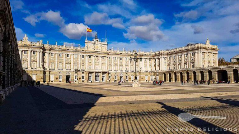 Innenhof des Königspalast in Madrid