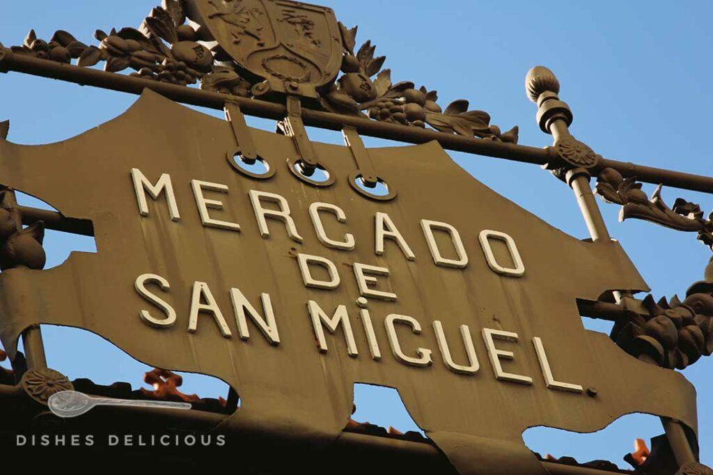 Schild des Mercado de San Miguel